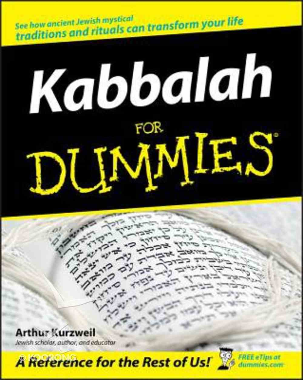 Kabbalah For Dummies Paperback