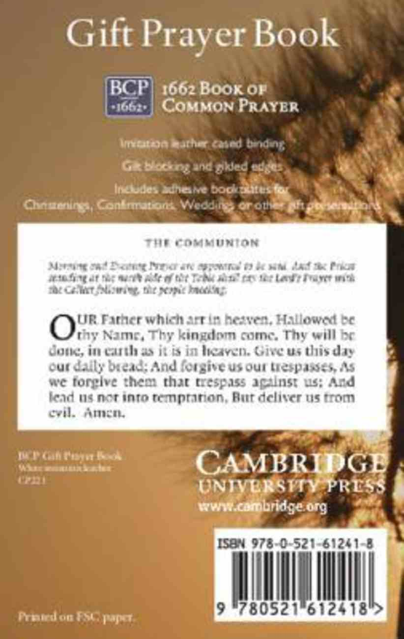 Book of Common Prayer Gift Edition White Hardback