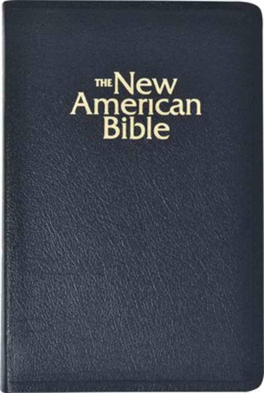 Nab Deluxe Catholic Gift Bible Black Bonded Leather