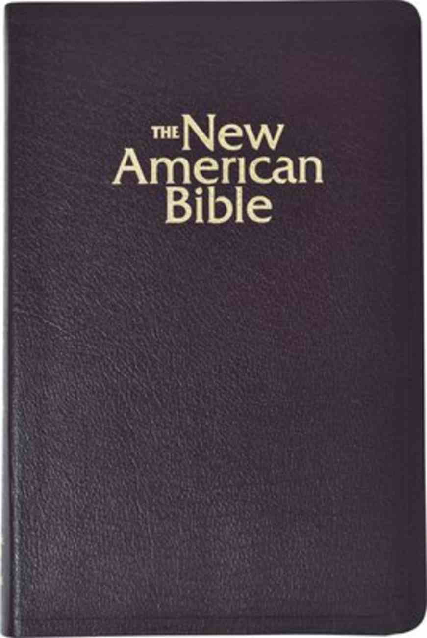 Nab Gift and Award Bible Deluxe Burgundy Bonded Leather