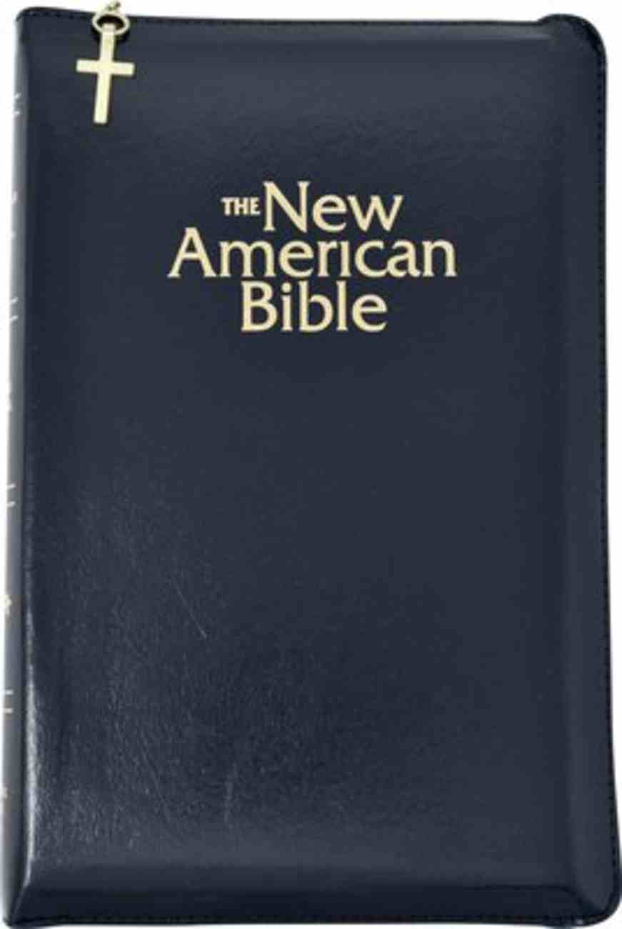 Nab Deluxe Gift Bible Black Zippered Imitation Leather