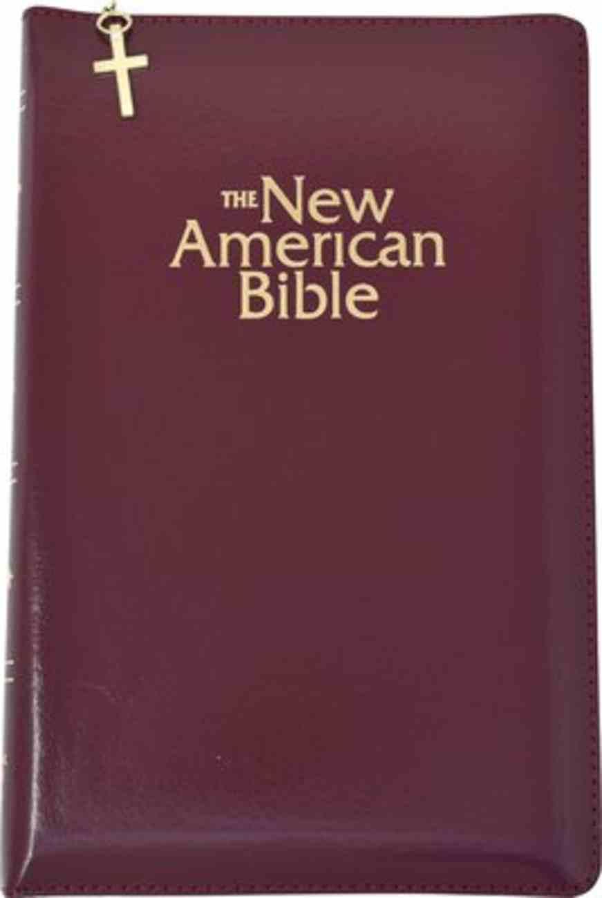 Nab Deluxe Gift Bible Burgundy Zipper Imitation Leather