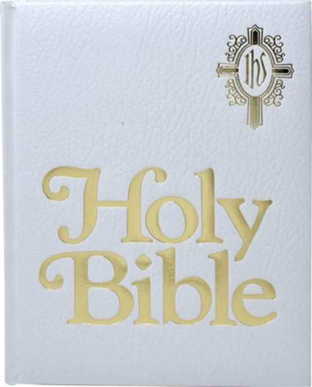 Nab Catholic Family Bible, the White Imitation Leather