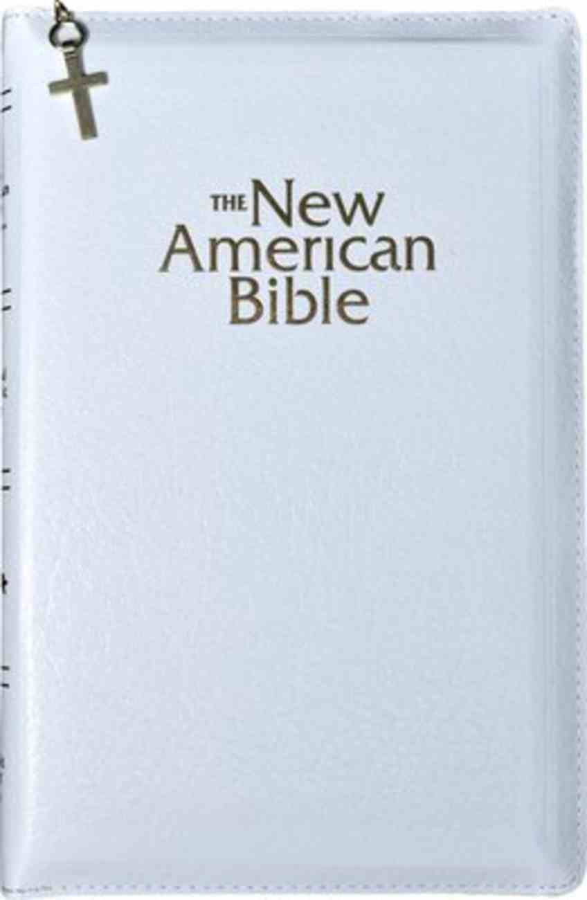 Nab Gift and Award Bible Zipper Deluxe White Imitation Leather