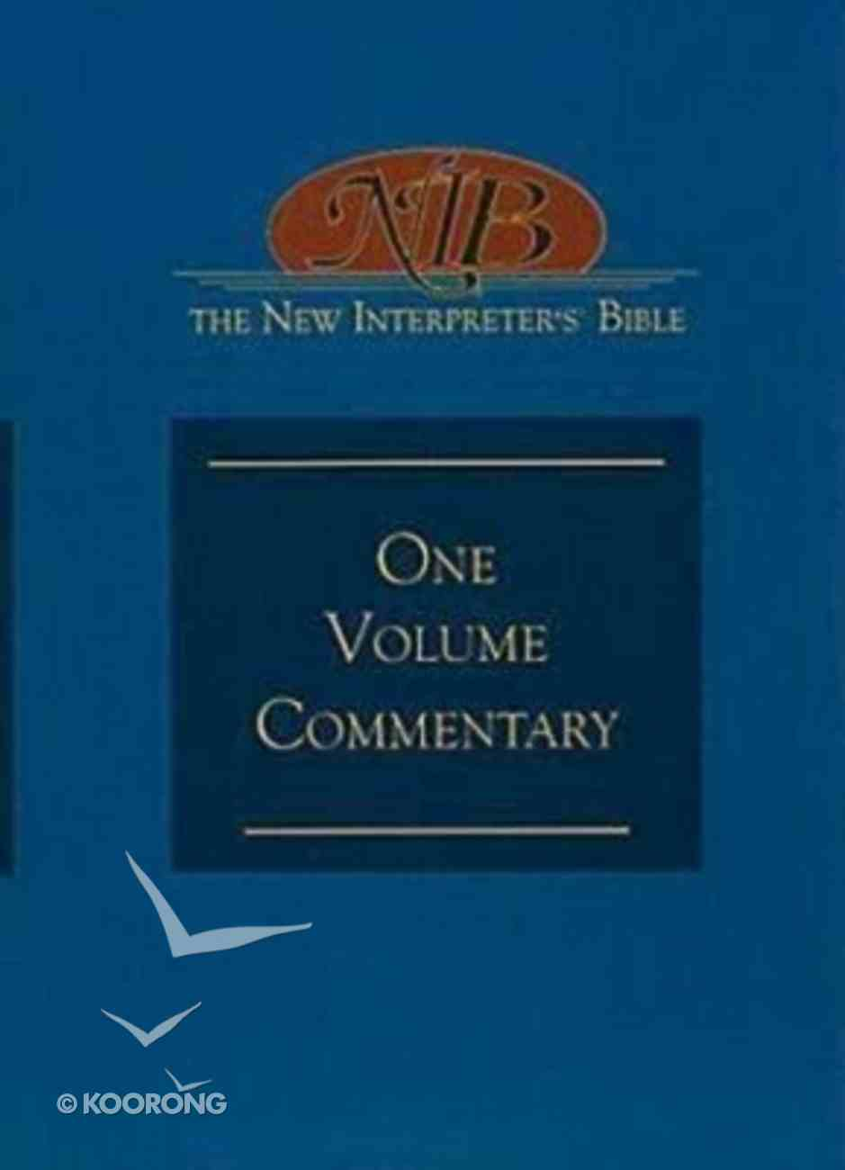 New Interpreters Bible: One Volume Commentary (New Interpreters Bible Commentary Series) Hardback