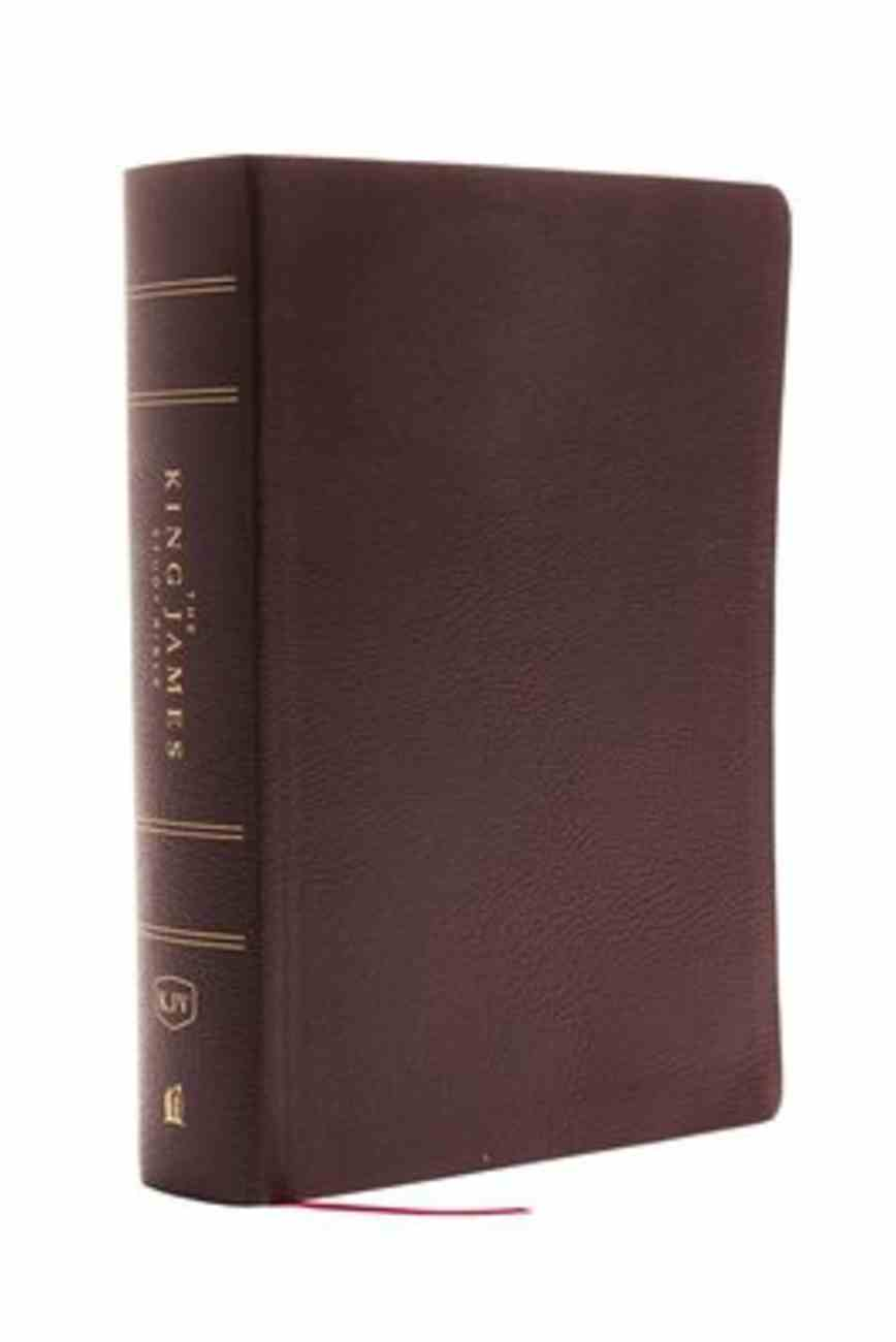 KJV Study Bible Burgundy Full-Color Edition (Red Letter Edition) Bonded Leather