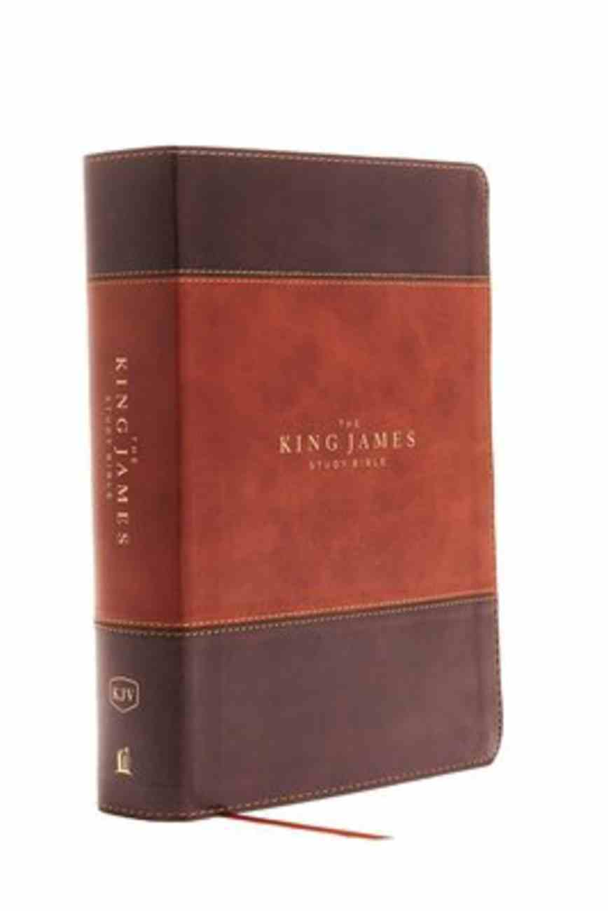KJV Study Bible Brown Indexed Full-Color Edition (Red Letter Edition) Premium Imitation Leather