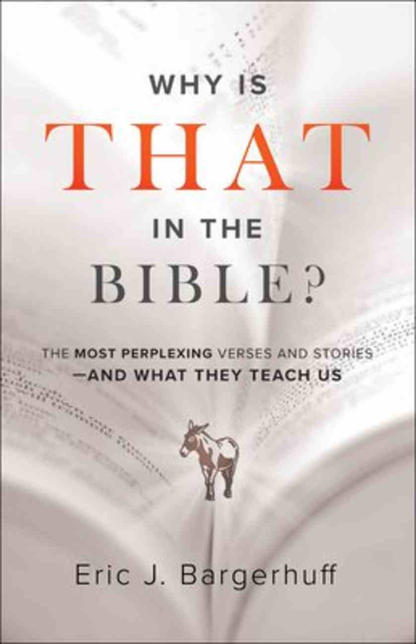 Why is That in the Bible?: The Most Perplexing Verses and Stories--And What They Teach Us Paperback