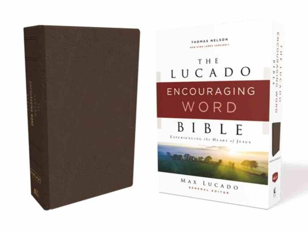 NKJV Lucado Encouraging Word Bible Brown Premium Imitation Leather