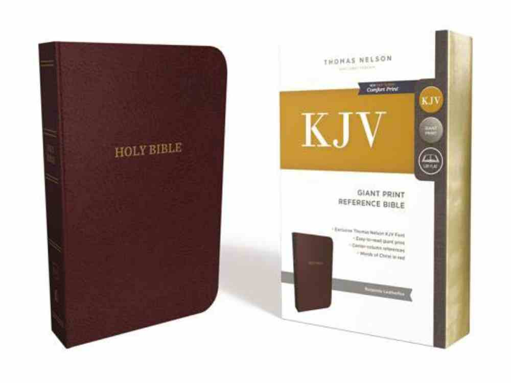 KJV Reference Bible Giant Print Burgundy (Red Letter Edition) Imitation Leather