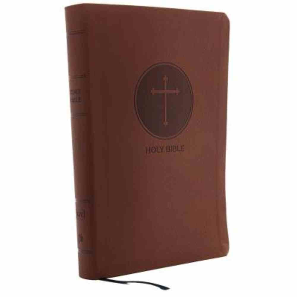KJV Reference Bible Giant Print Brown (Red Letter Edition) Premium Imitation Leather