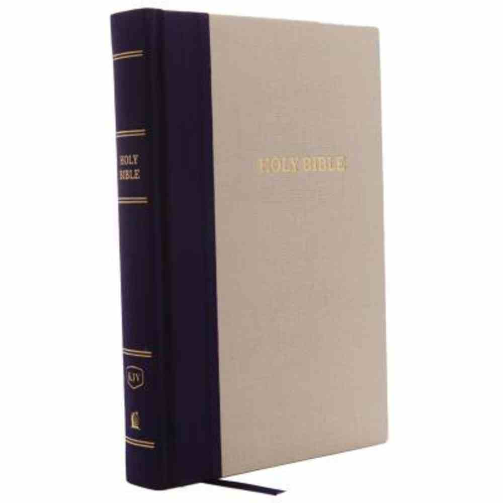KJV Reference Bible Giant Print Blue/Tan (Red Letter Edition) Hardback