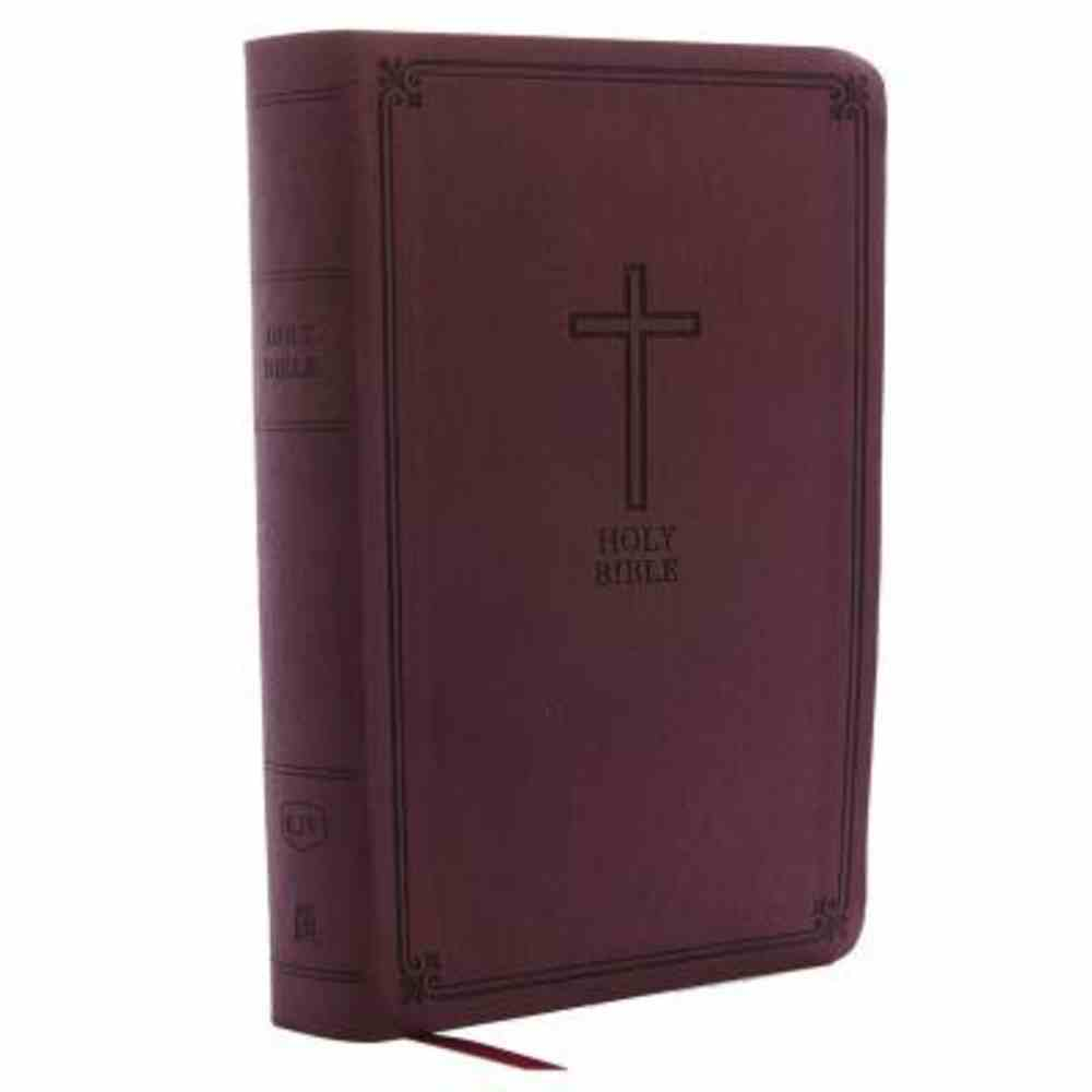 KJV Reference Bible Personal Size Giant Print Burgundy (Red Letter Edition) Premium Imitation Leather