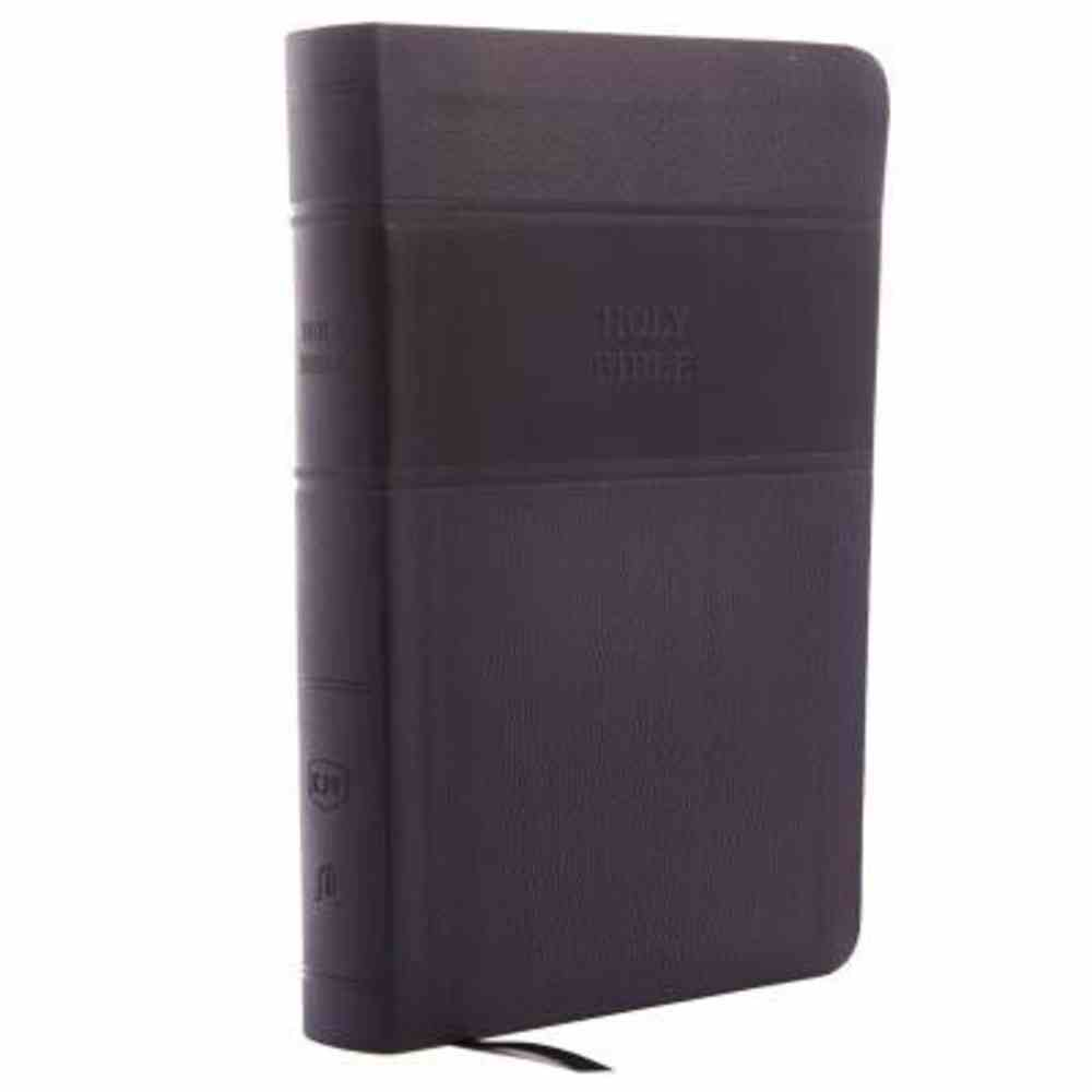 KJV Reference Bible Indexed Personal Size Giant Print Black (Red Letter Edition) Premium Imitation Leather