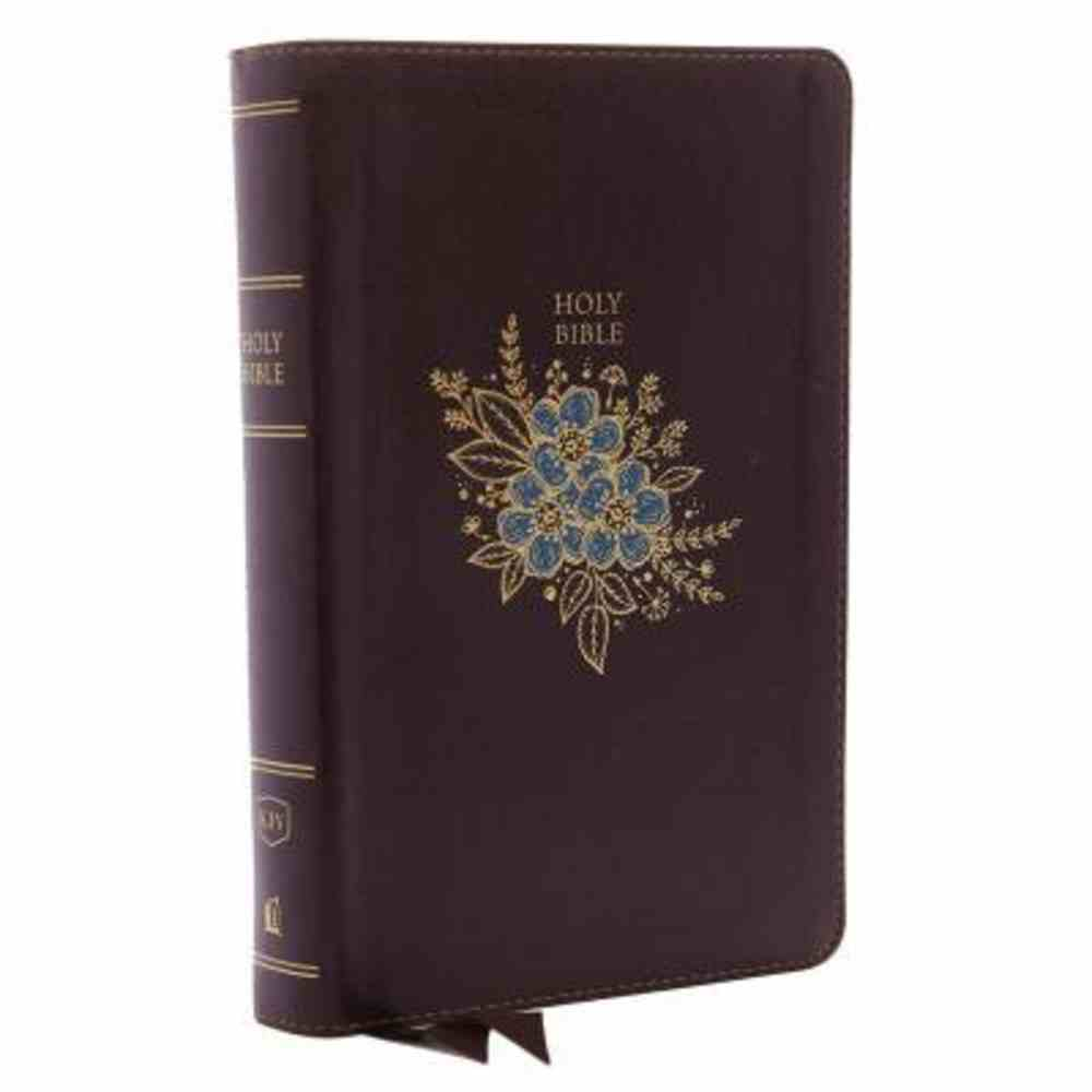 KJV Deluxe Reference Bible Personal Size Giant Print Burgundy (Red Letter Edition) Premium Imitation Leather