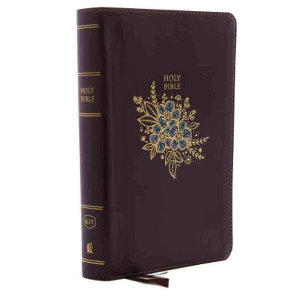 KJV Deluxe Reference Bible Personal Size Giant Print Burgundy Indexed (Red Letter Edition) Premium Imitation Leather