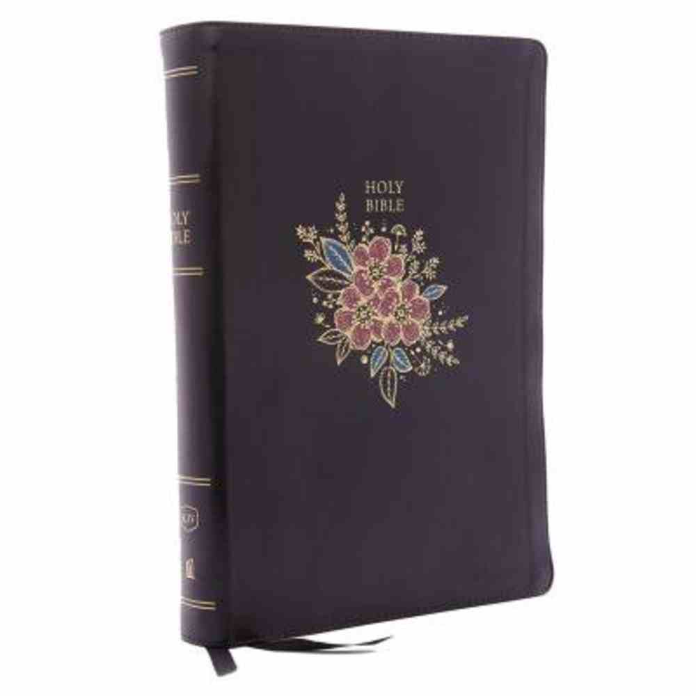 KJV Deluxe Reference Bible Super Giant Print Black (Red Letter Edition) Premium Imitation Leather