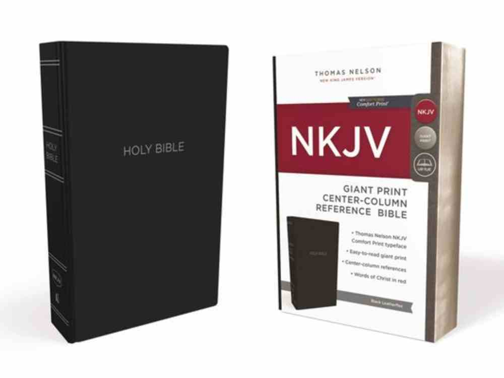 NKJV Reference Bible Giant Print Black (Red Letter Edition) Imitation Leather