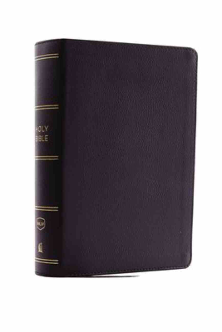NKJV Compact Reference Bible Black (Red Letter Edition) Genuine Leather