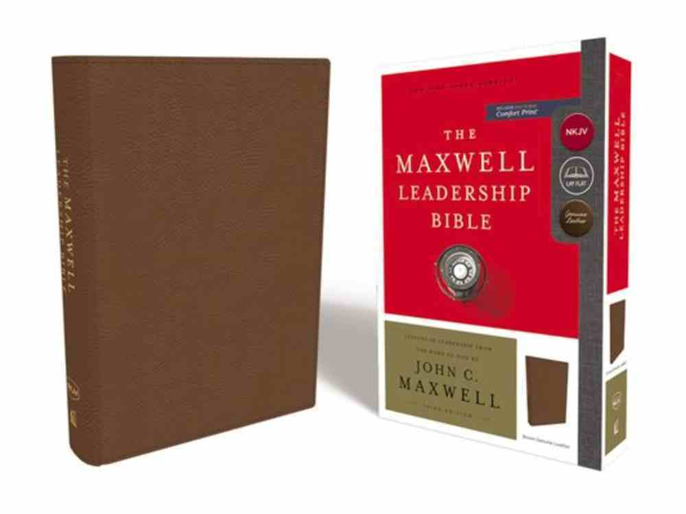 NKJV Maxwell Leadership Bible Brown (Third Edition) Genuine Leather