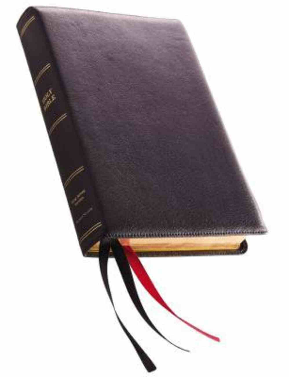 KJV Reference Bible Giant Print Black Premier Collection (Black Letter Edition) Genuine Leather