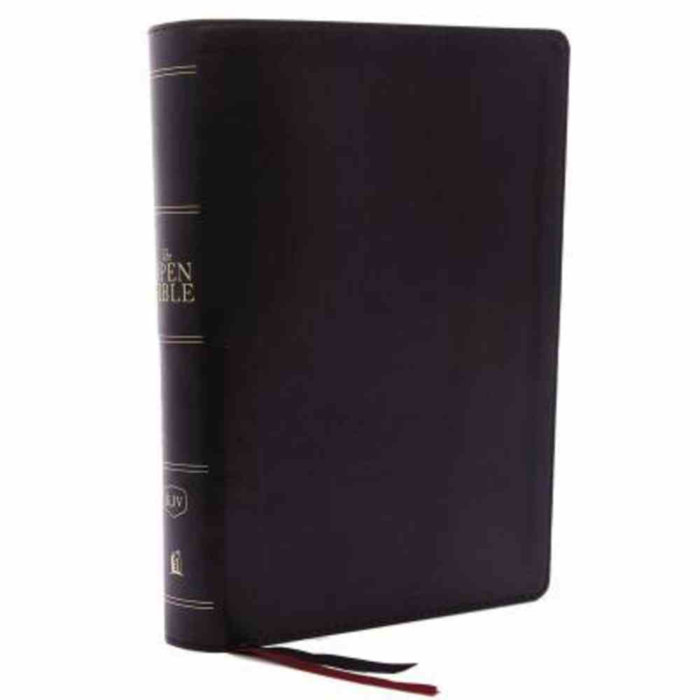 KJV Open Bible Black Indexed (Red Letter Edition) Premium Imitation Leather