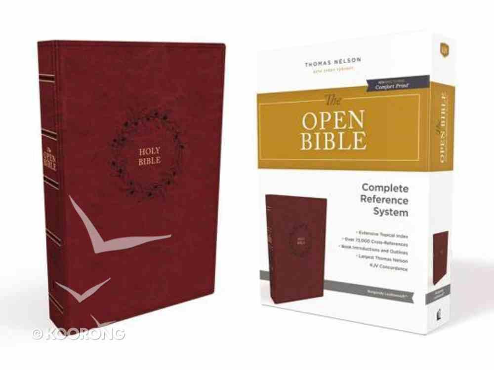 KJV Open Bible Burgundy (Red Letter Edition) Premium Imitation Leather