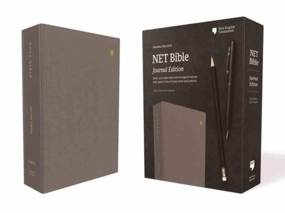 NET Bible Journal Edition Gray Fabric Over Hardback