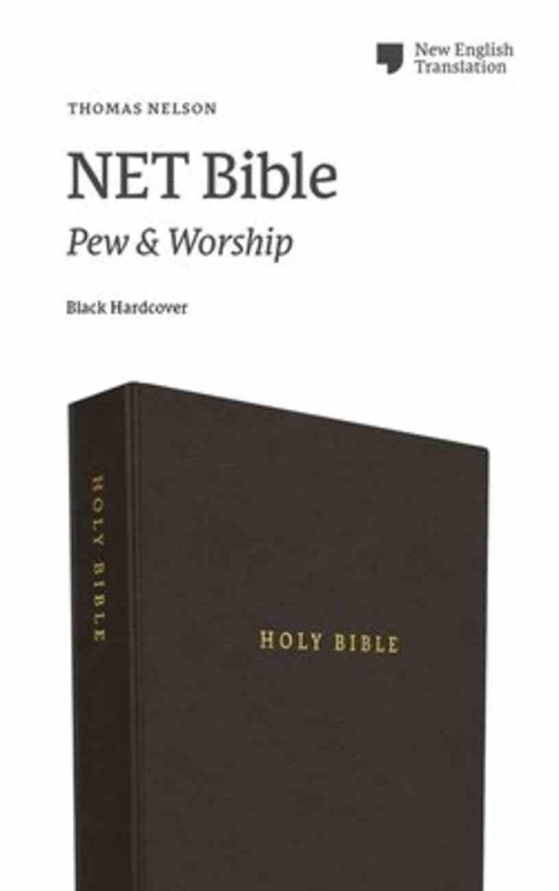 NET Bible Pew and Worship Black Hardback