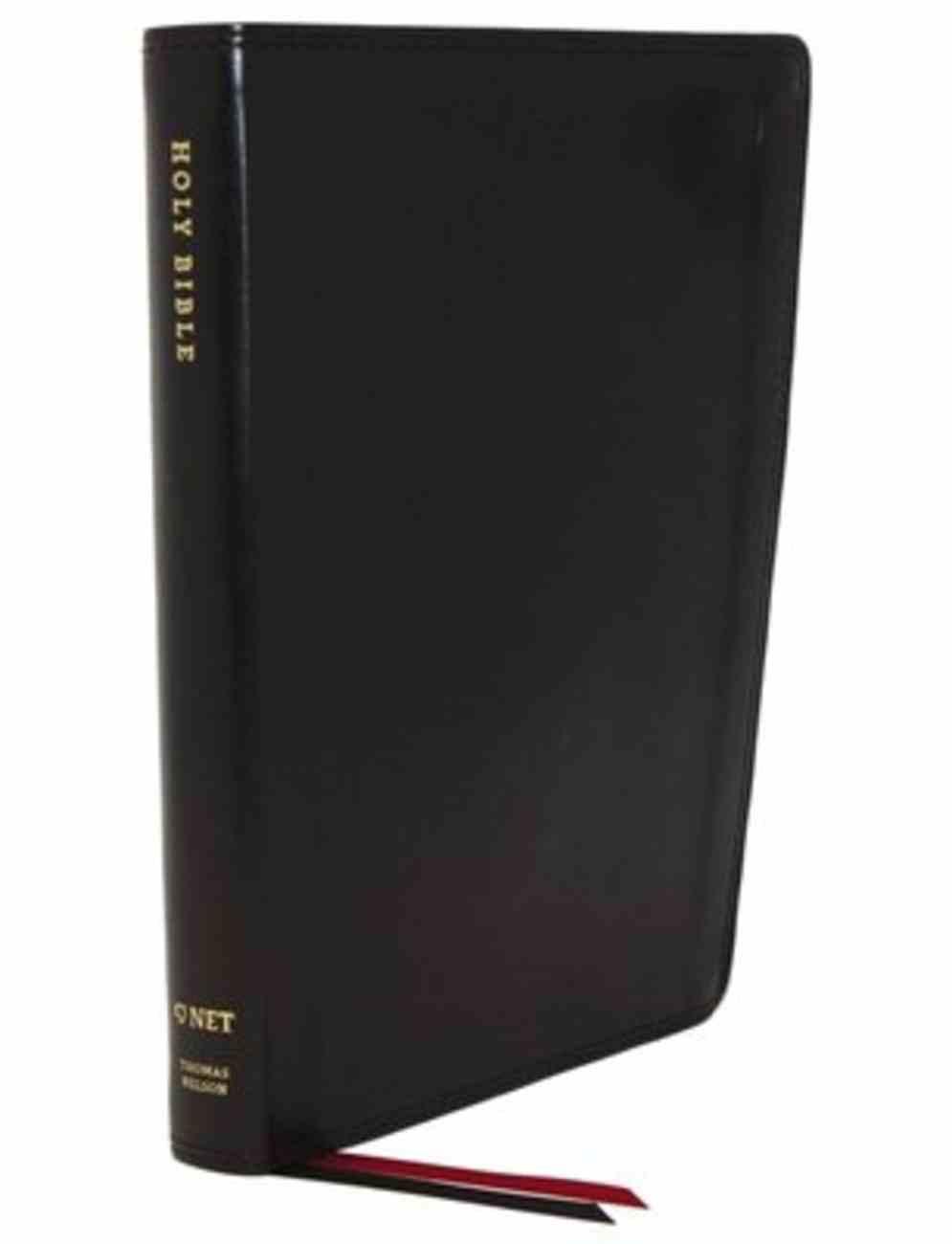 NET Bible Thinline Large Print Black Premium Imitation Leather