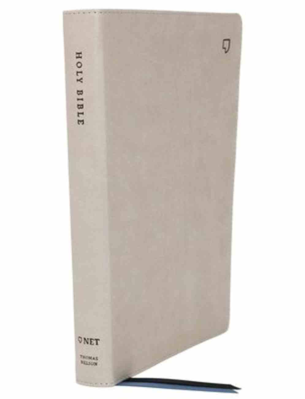 NET Bible Thinline Large Print Stone Indexed Premium Imitation Leather