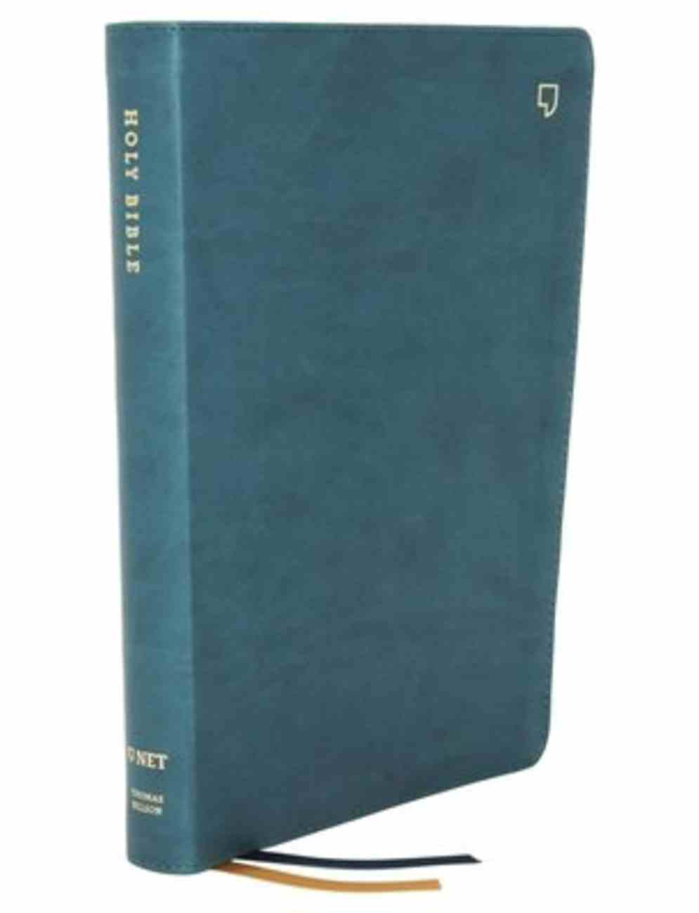 NET Bible Thinline Large Print Teal Indexed Premium Imitation Leather