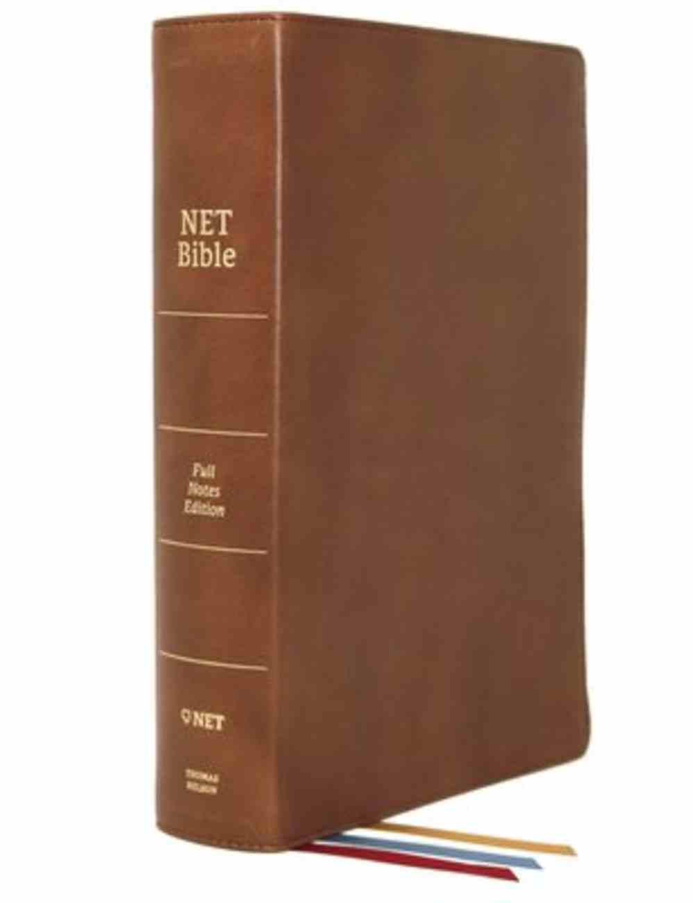 NET Bible Full-Notes Edition Brown Genuine Leather