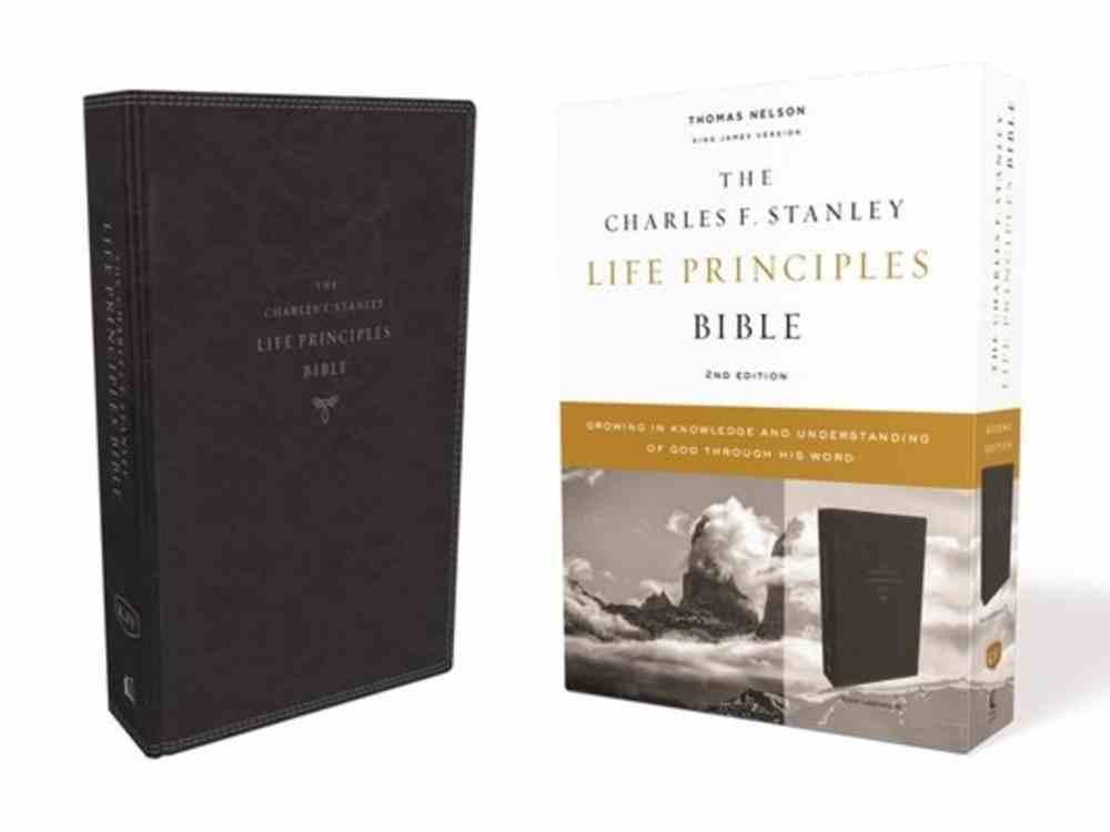 KJV Charles F. Stanley Life Principles Bible Black (2nd Edition) Premium Imitation Leather