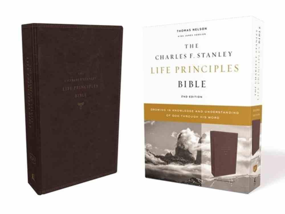 KJV Charles F. Stanley Life Principles Bible Burgundy (2nd Edition) Premium Imitation Leather