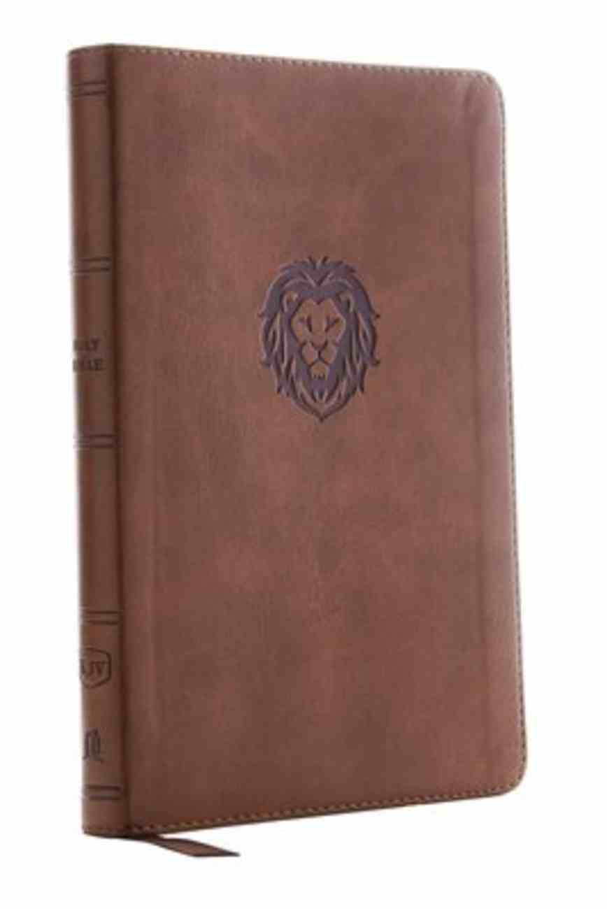 KJV Thinline Bible Youth Edition Brown (Red Letter Edition) Premium Imitation Leather