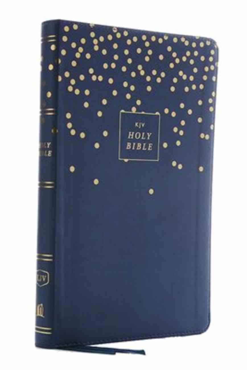 KJV Thinline Bible Youth Edition Blue (Red Letter Edition) Premium Imitation Leather