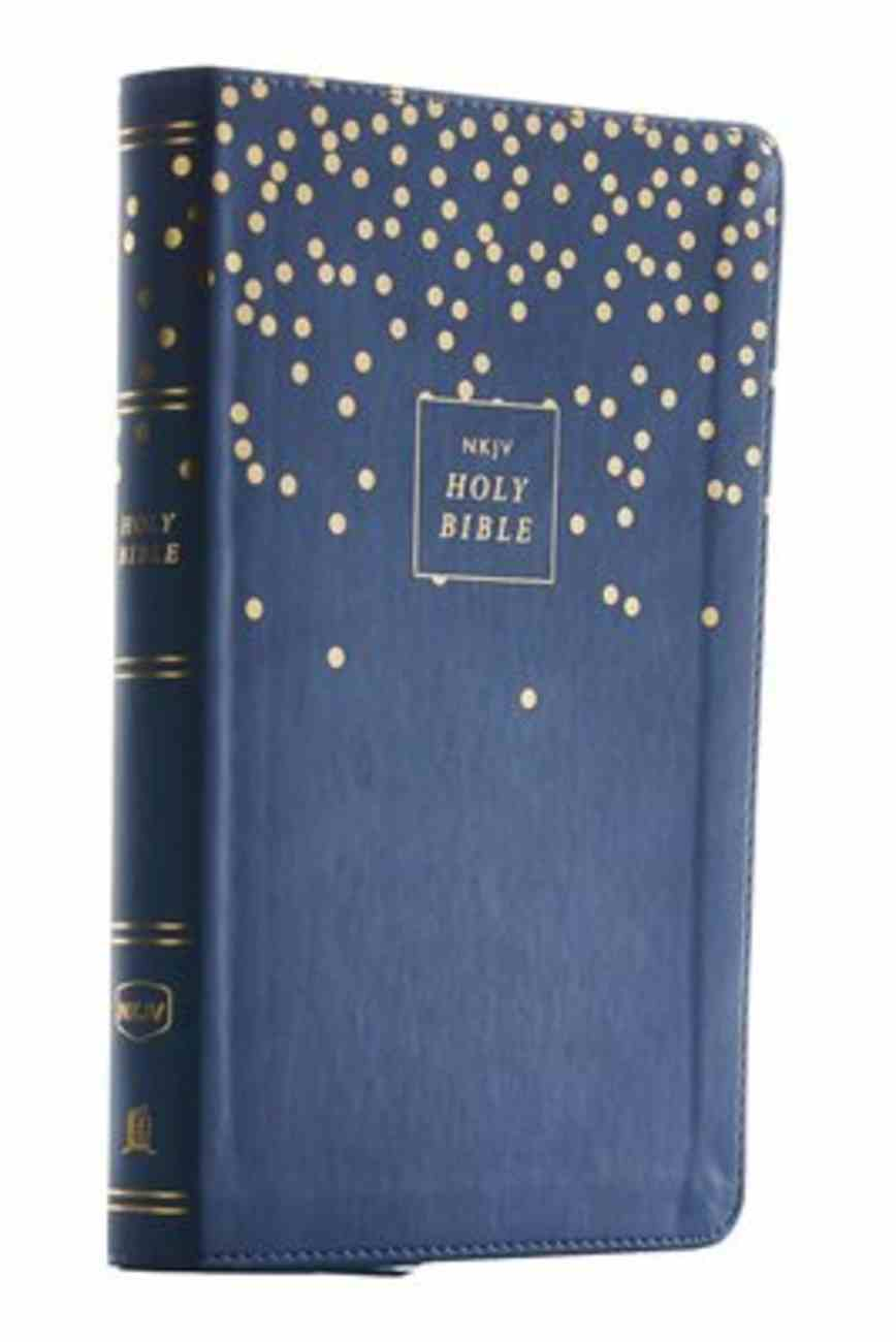 NKJV Thinline Bible Youth Edition Blue (Red Letter Edition) Premium Imitation Leather