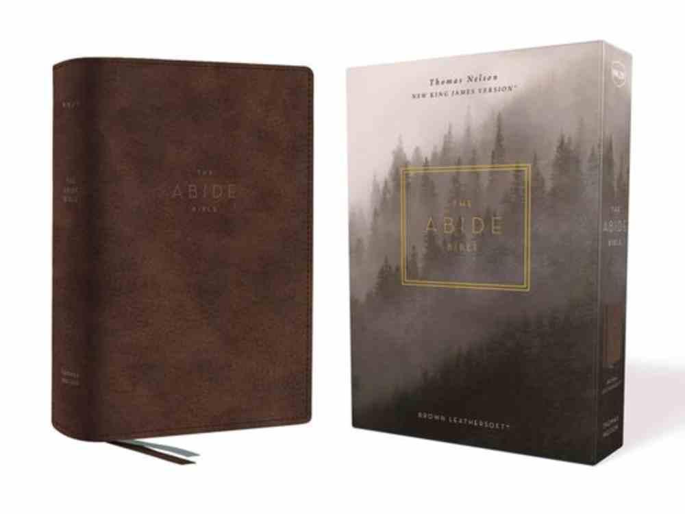 NKJV Abide Bible Brown (Red Letter Edition) Premium Imitation Leather