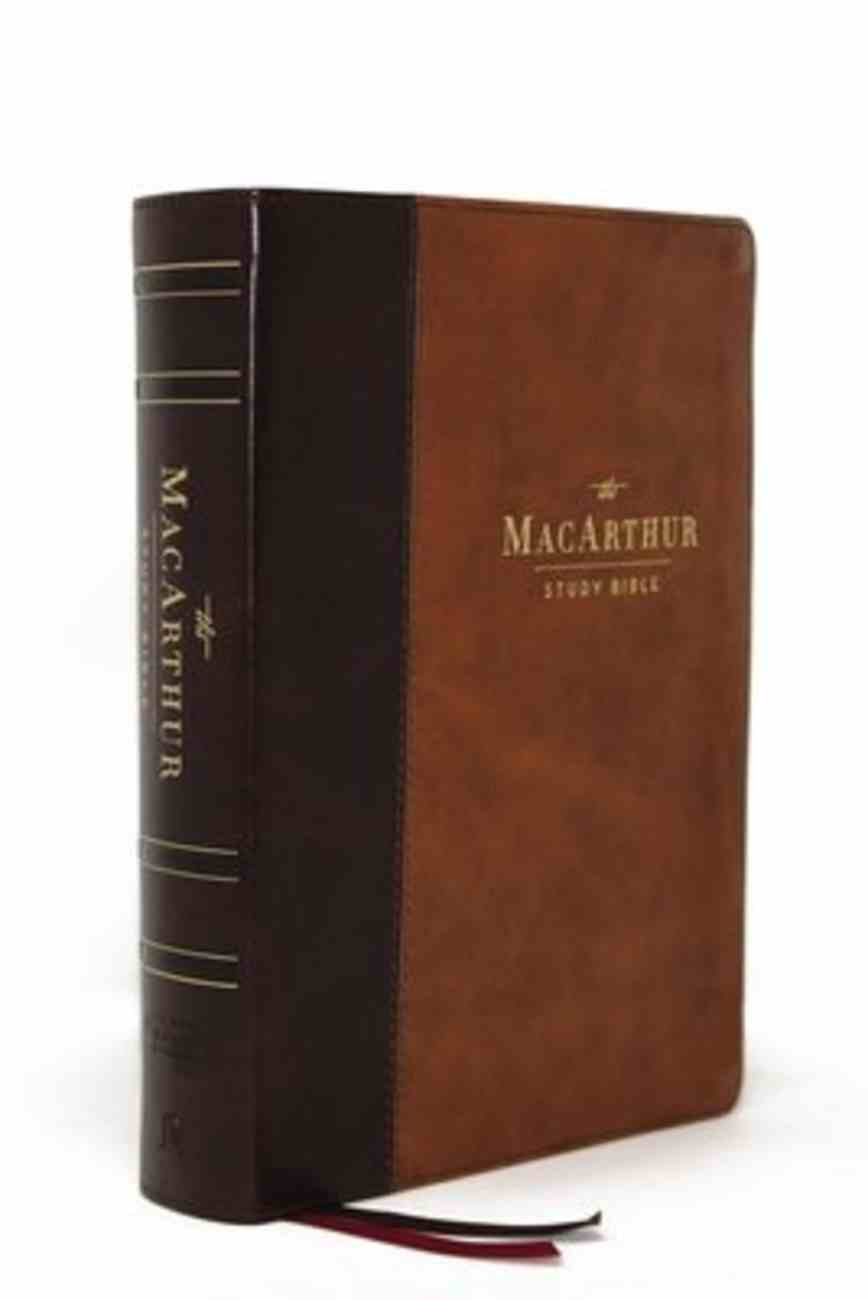 NASB Macarthur Study Bible 2nd Edition Brown Indexed Premium Imitation Leather