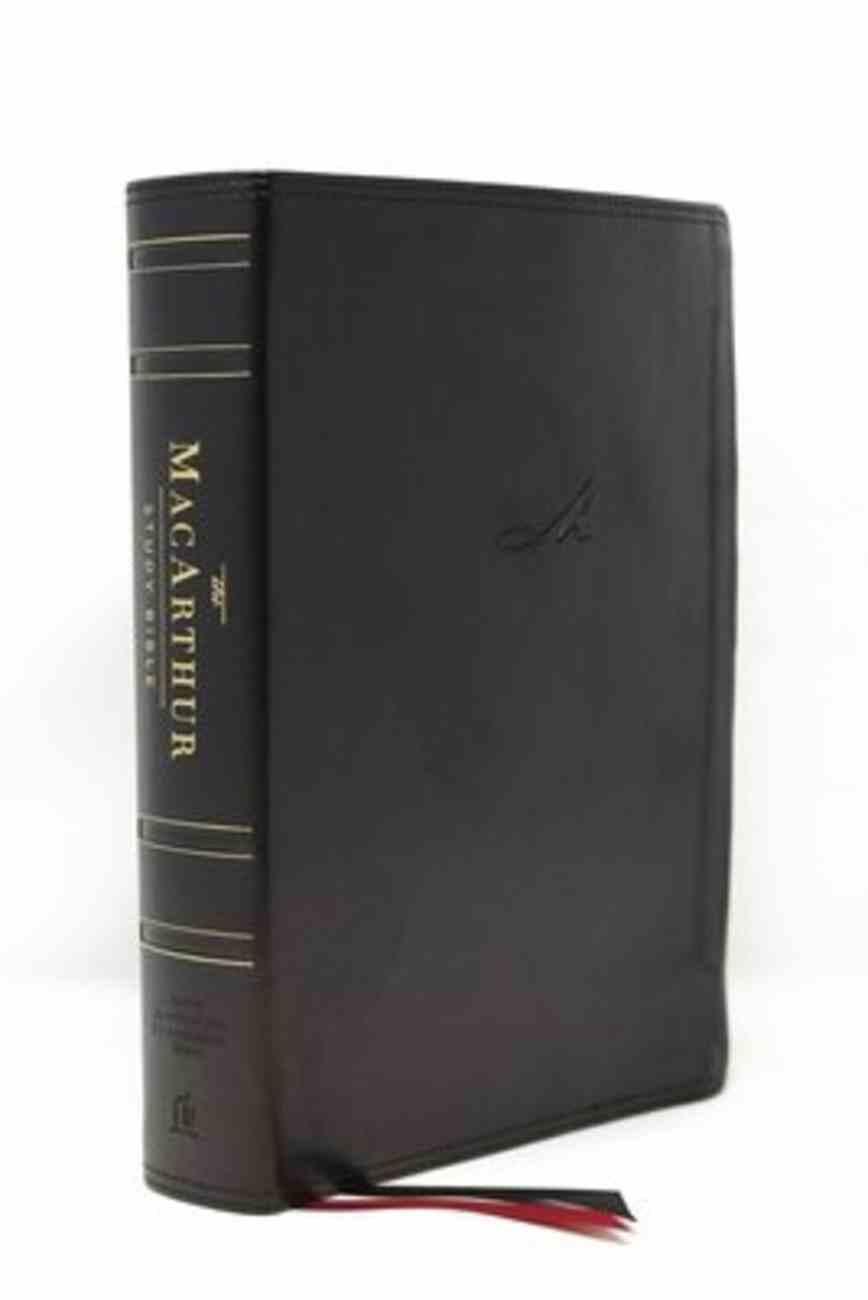 NASB Macarthur Study Bible 2nd Edition Black Premium Imitation Leather