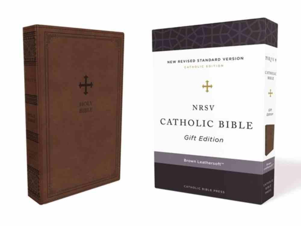 NRSV Catholic Bible Gift Edition Brown (Anglicised) Premium Imitation Leather
