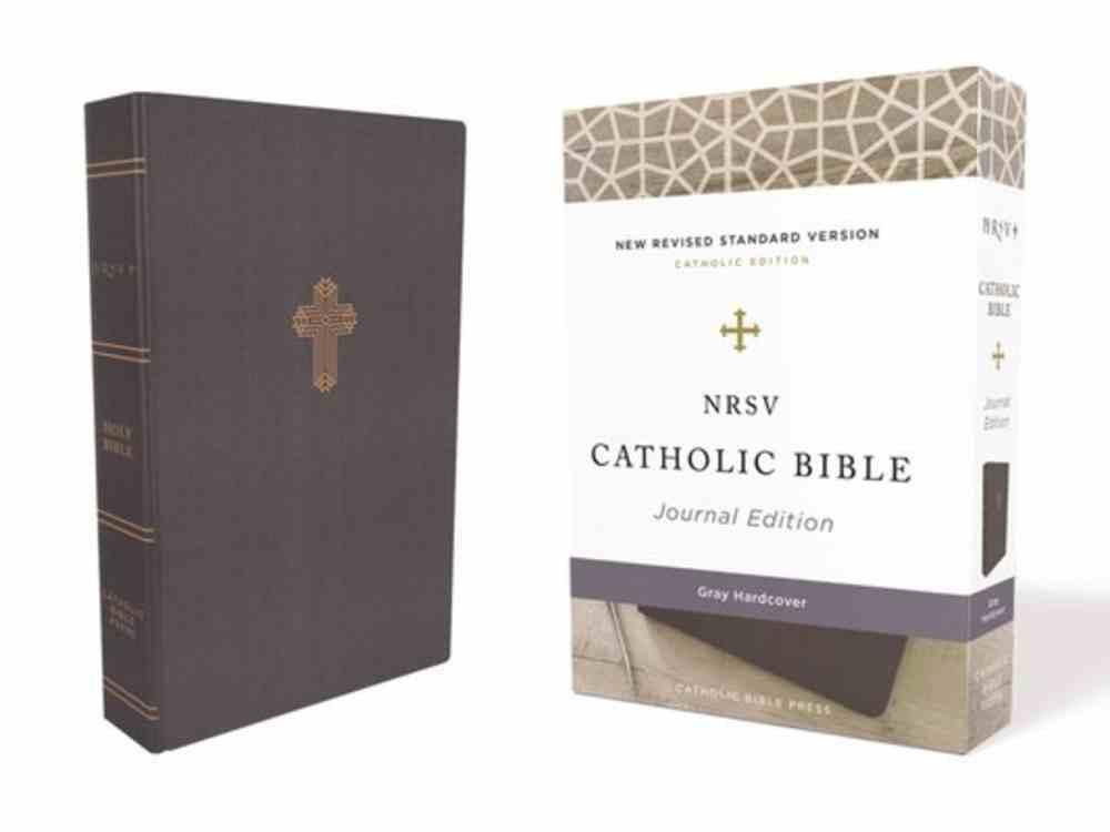 NRSV Catholic Bible Journal Edition Gray (Anglicised) Fabric Over Hardback