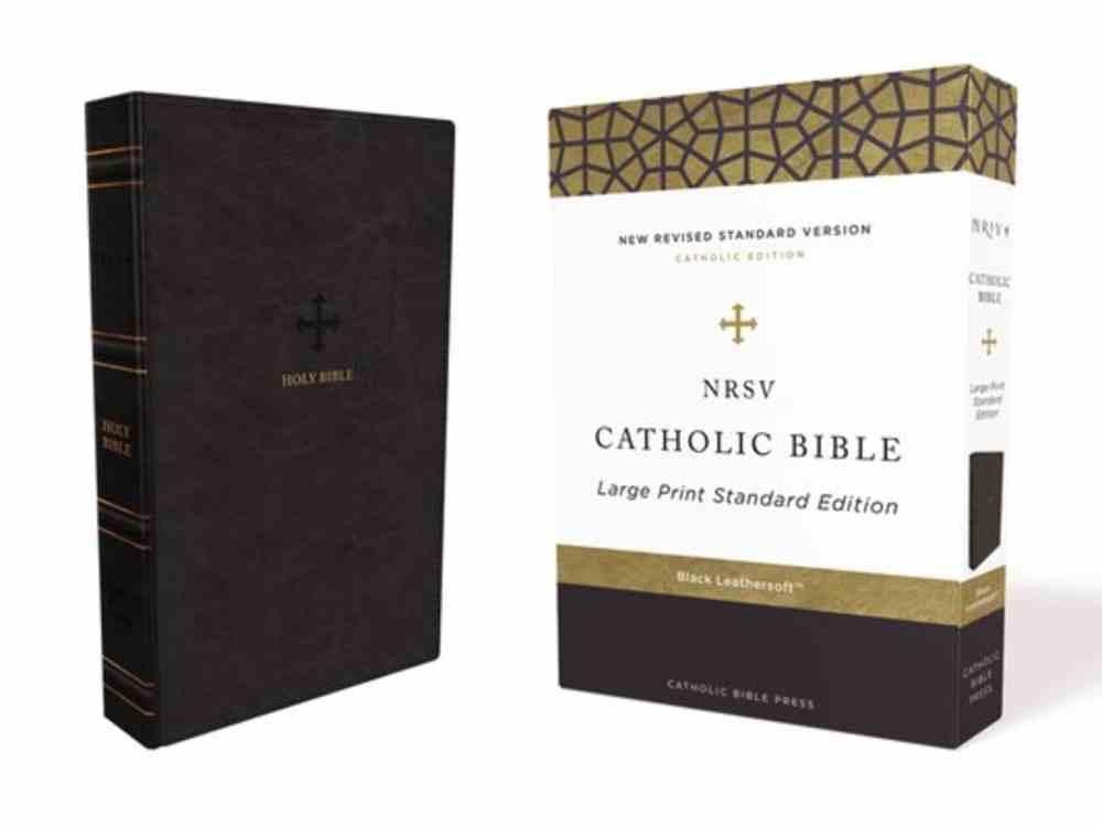 NRSV Catholic Bible Large Print Black Premium Imitation Leather