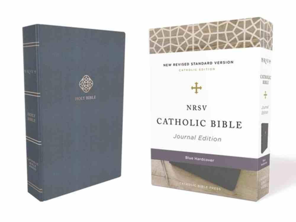 NRSV Catholic Bible Journal Edition Blue (Anglicised) Fabric Over Hardback