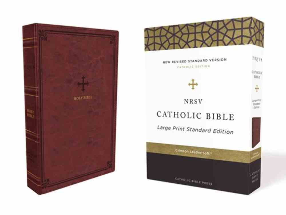 NRSV Catholic Bible Large Print Red Premium Imitation Leather