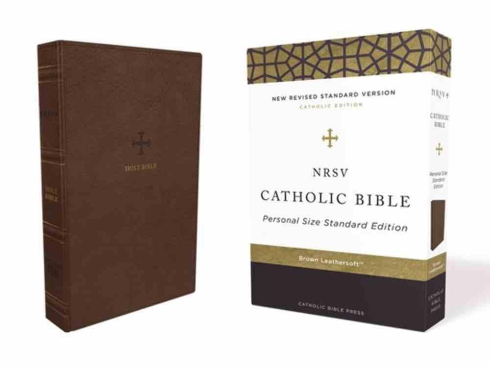 NRSV Catholic Bible Brown Premium Imitation Leather