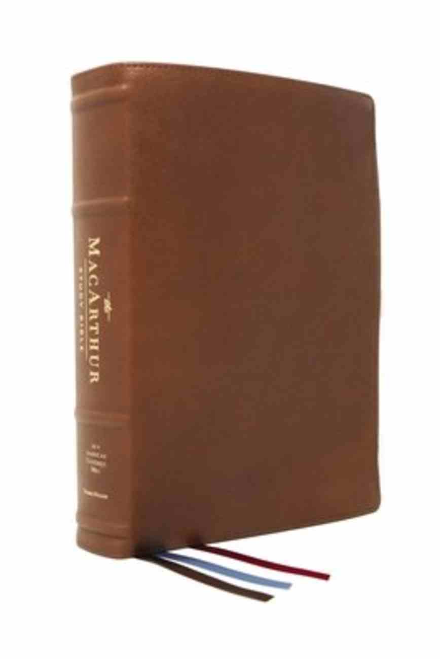 NASB Macarthur Study Bible 2nd Edition Brown Premier Collection (Black Letter Edition) Genuine Leather
