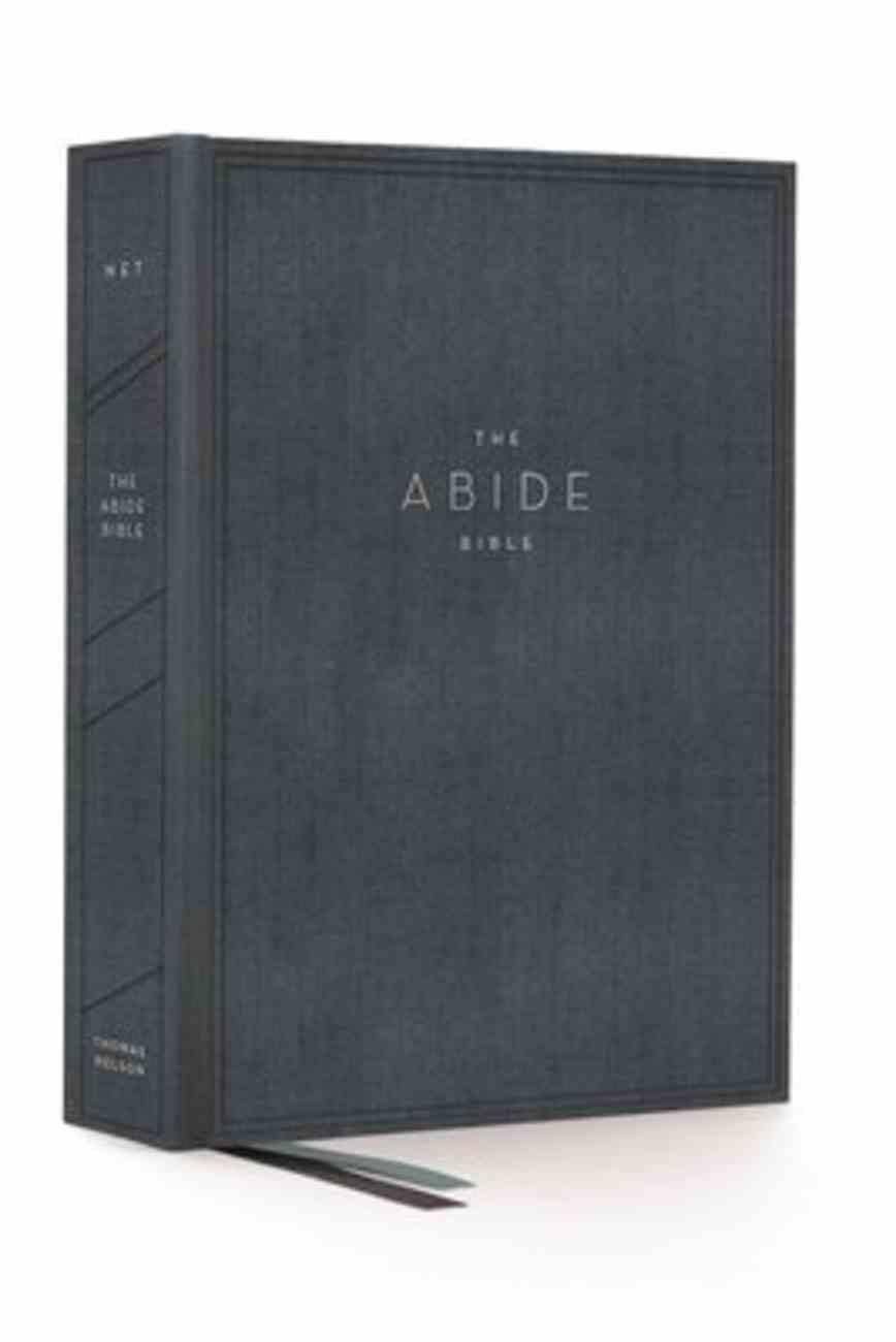 NET Abide Bible Blue Fabric Over Hardback