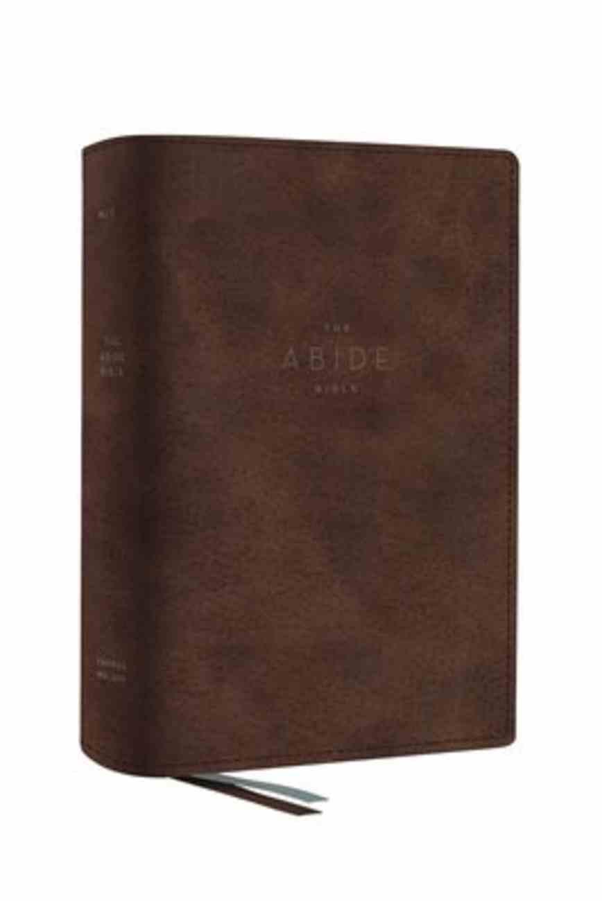 NET Abide Bible Brown Premium Imitation Leather